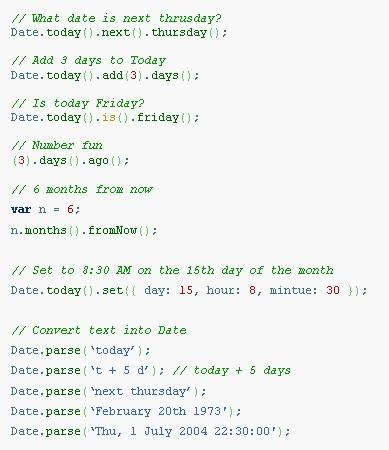 DateJS Example